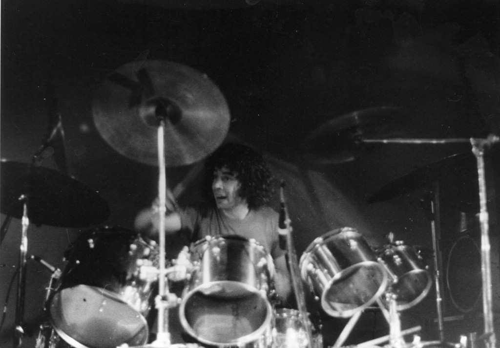 Jack Hays, drummer for Brocas Helm- he was one of the very first percussionists to fuse jazz with heavy metal. Photo courtesy of Jim Schumacher.