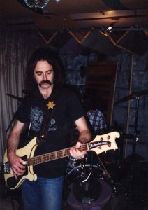 "Jim ""The Wizard"" Schumacher, bassist for Brocas Helm. His musical partnership with Bob Wright can be traced back to the Prisoner band. Photo courtesy of Jim Schumacher."