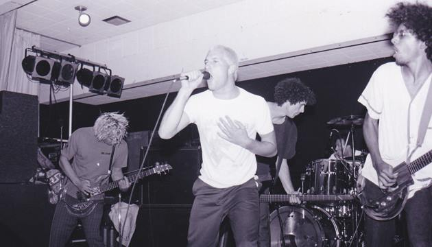 "BL'AST! live in the late '80s with William ""Kip"" DuVall. Photo by Fred Hammer."