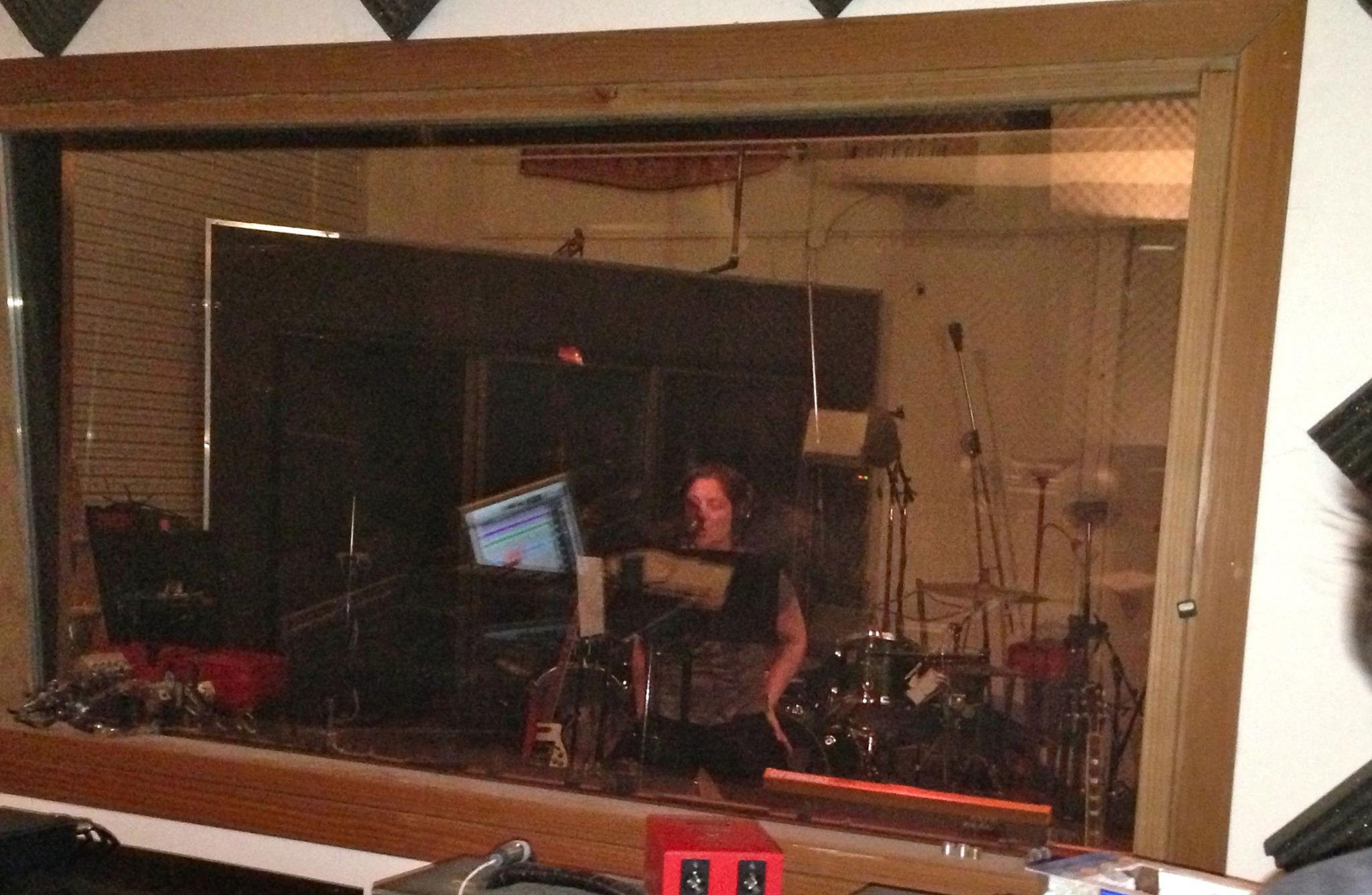 Laurie Sue Shanaman tracking vocals for A Body Amorphous.