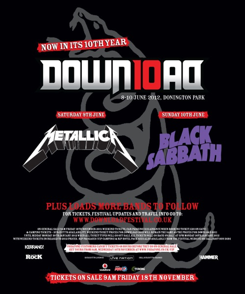 DOWNLOAD FESTIVAL Posts Trailer Video For 2012 Edition