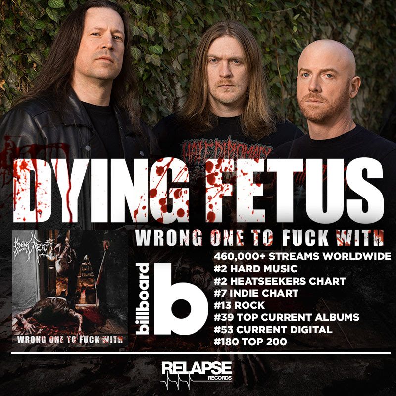 Dying Fetus makes Career-High Billboard Chart Debut with New
