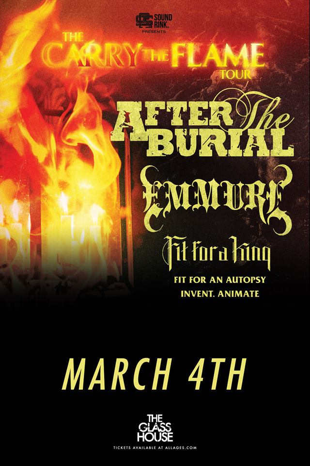 Ticket Giveaway After The Burial Glass House Metal Assault News