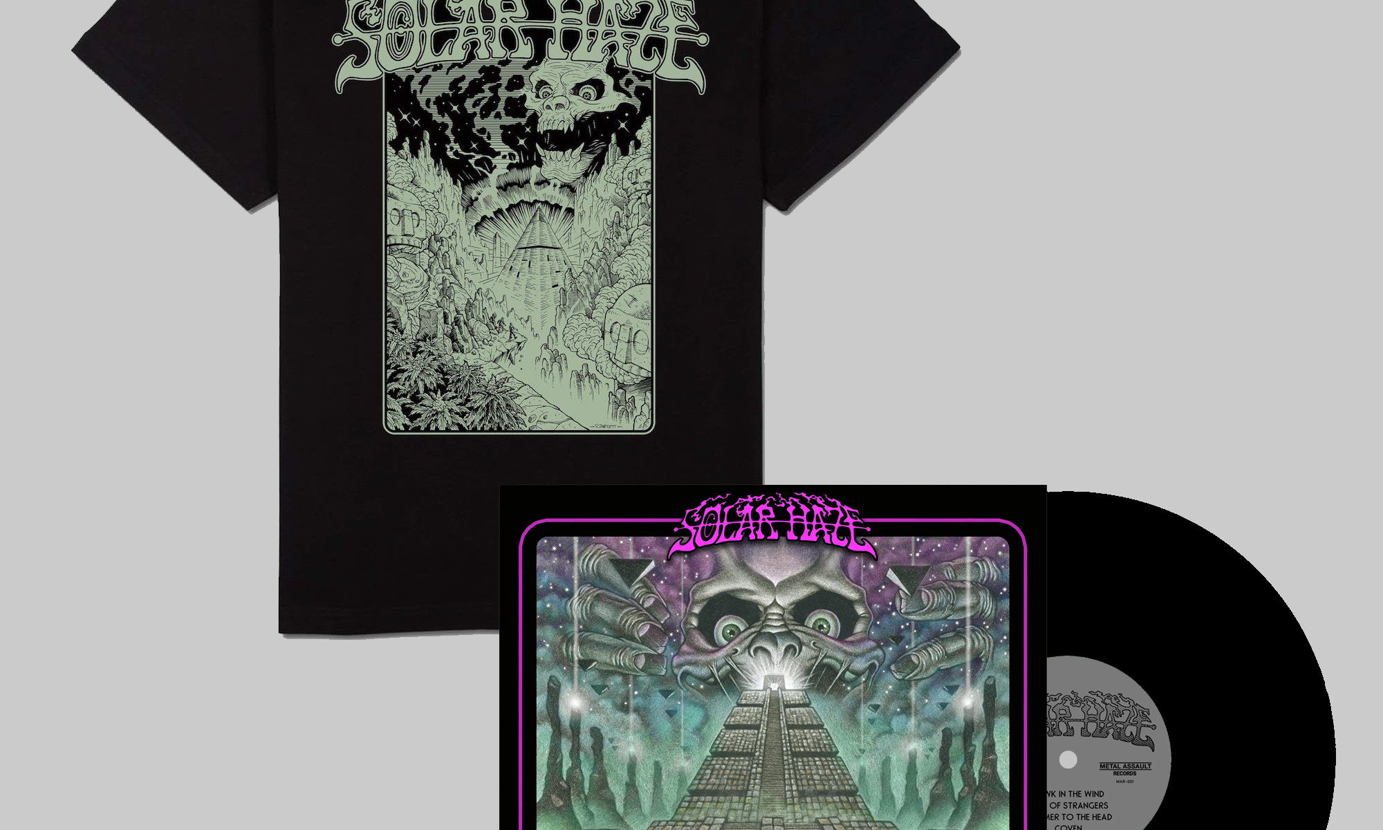 SOLAR HAZE 'Ancient Dust' Shirt + Black Vinyl Bundle
