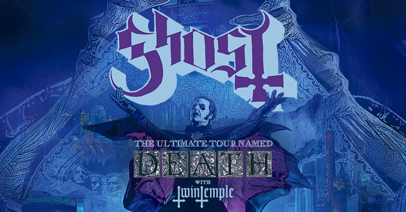 """Tour Ticket Giveaway: GHOST """"Ultimate Tour Named Death"""""""